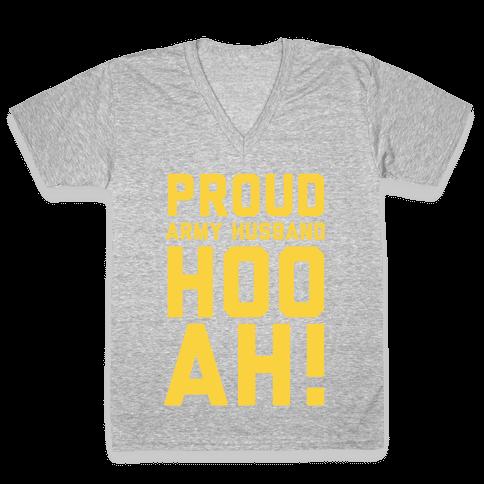 Proud Army Husband V-Neck Tee Shirt