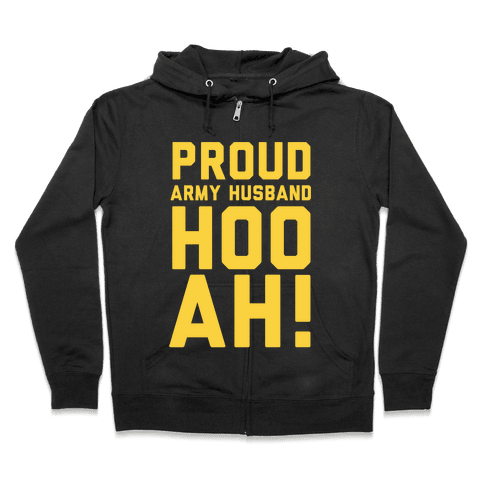 Proud Army Husband Zip Hoodie