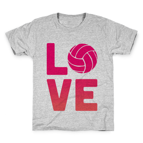 Love Volleyball (V-Neck) Kids T-Shirt