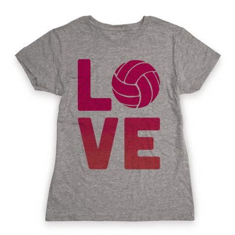 Love Volleyball (V-Neck) Womens T-Shirt