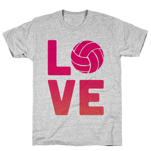 Love Volleyball (V-Neck) Mens T-Shirt
