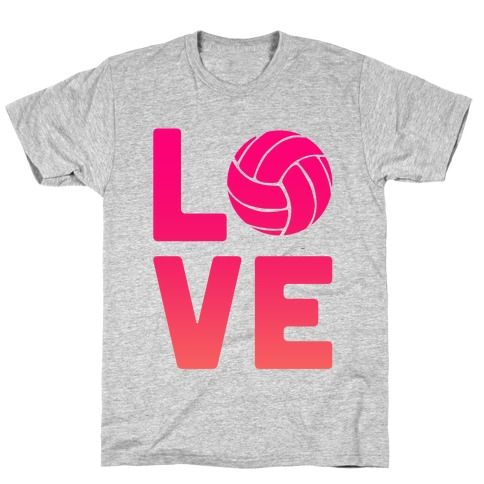 Love Volleyball (V-Neck) Mens T-Shirt