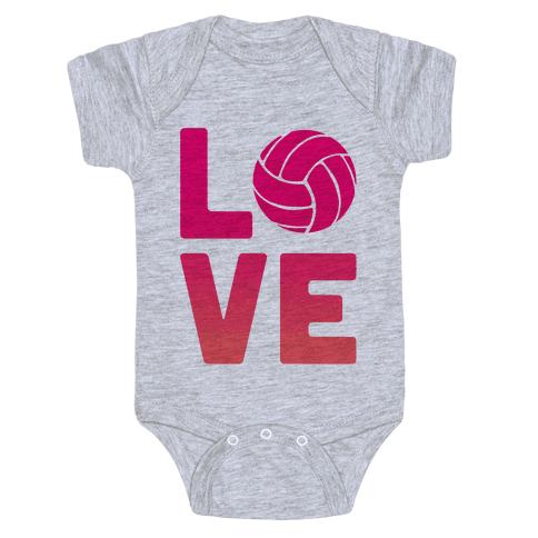 Love Volleyball (V-Neck) Baby Onesy