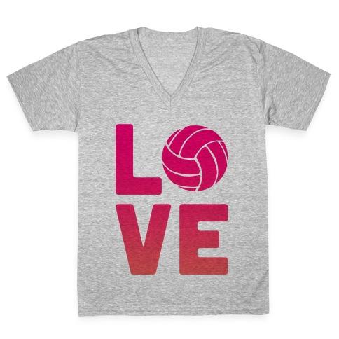 Love Volleyball (V-Neck) V-Neck Tee Shirt