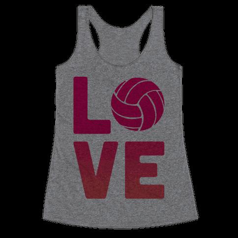 Love Volleyball (V-Neck) Racerback Tank Top