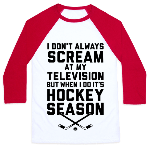 Hockey Season Baseball Tee