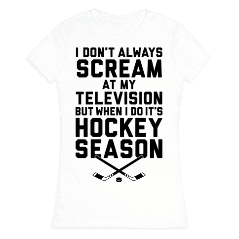Hockey Season Womens T-Shirt