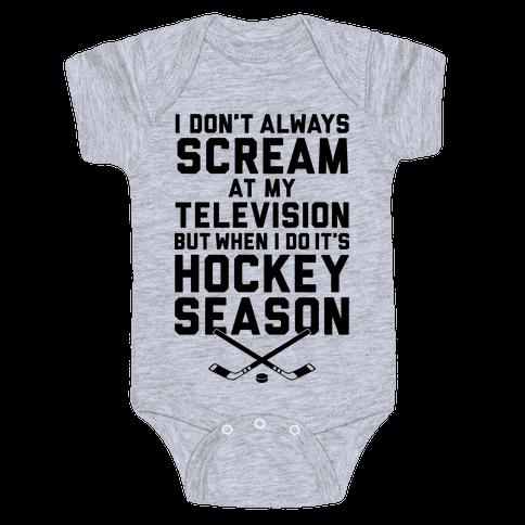 Hockey Season Baby Onesy