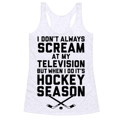 Hockey Season Racerback Tank Top