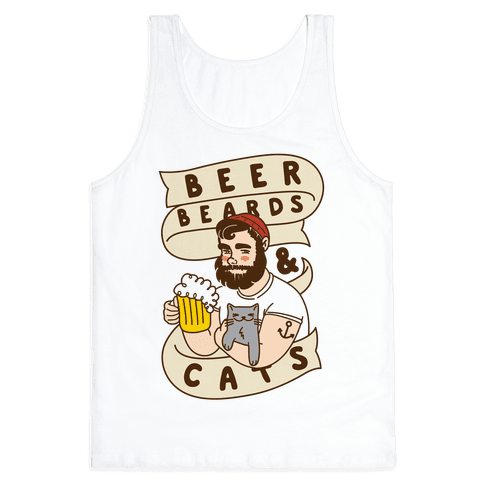 Beer, Beards and Cats Tank Top
