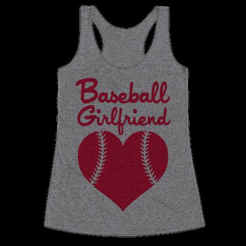 Baseball Girlfriend Racerback Tank Top