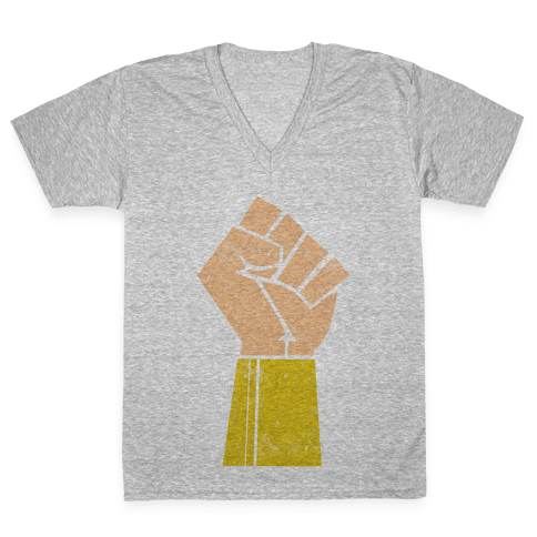 The Wonder of her Fists V-Neck Tee Shirt