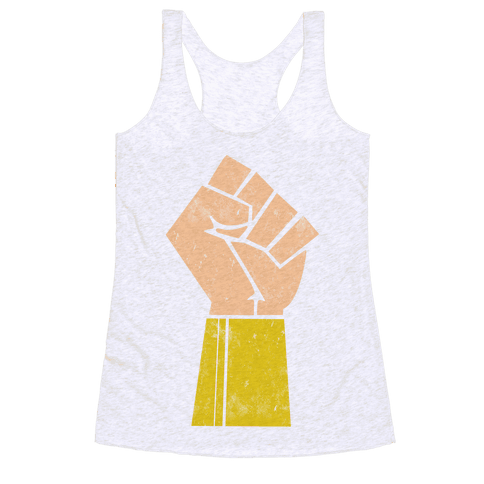 The Wonder of her Fists Racerback Tank Top