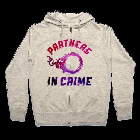 Partners in Crime A (Hoodie) Zip Hoodie