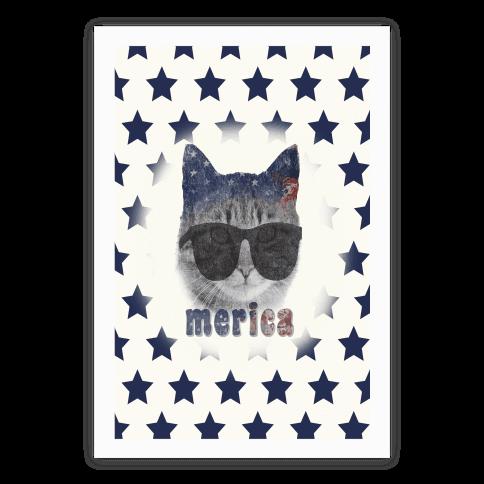 Merica Cat Poster