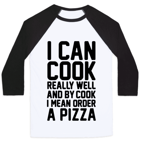 I Can Cook Baseball Tee