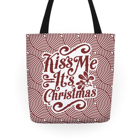 Kiss Me it's Christmas (Red) Tote