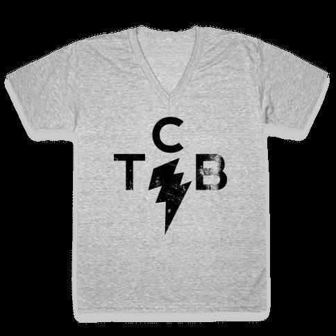 Brick's Logo V-Neck Tee Shirt