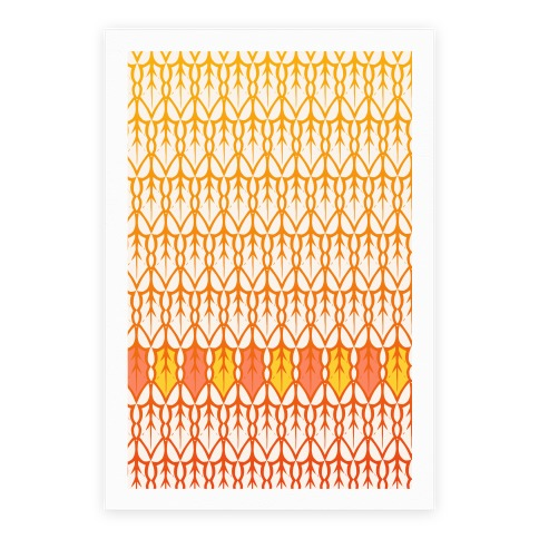 Fall Leaf Pattern Poster