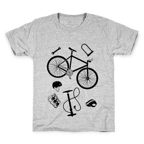 fixed gear cycling tools Kids T-Shirt
