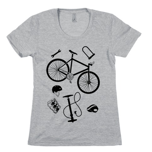 fixed gear cycling tools Womens T-Shirt