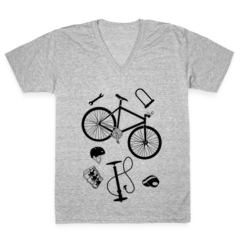 fixed gear cycling tools V-Neck Tee Shirt