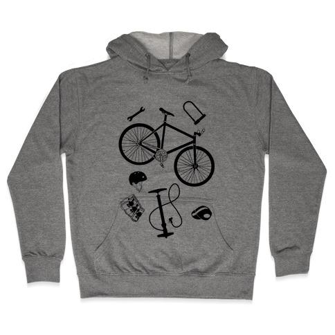 fixed gear cycling tools Hooded Sweatshirt