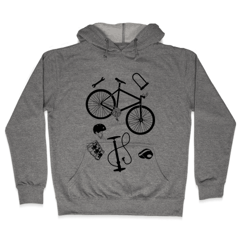fixed gear cycling tools Hooded Sweatshirt