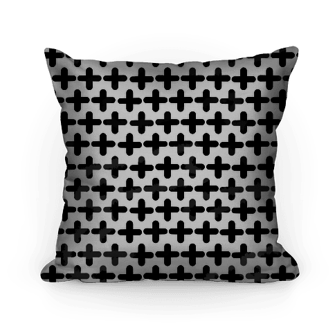 Plus Sign Pattern Pillow