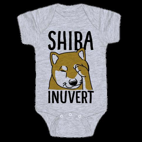 Shiba Inuvert Baby Onesy