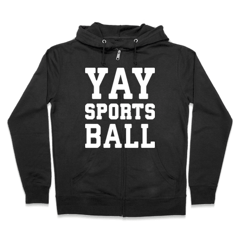 Yay Sports Ball Zip Hoodie