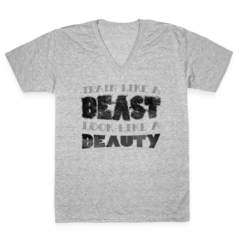 Beast & Beauty V-Neck Tee Shirt