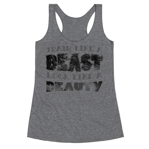 Beast & Beauty Racerback Tank Top