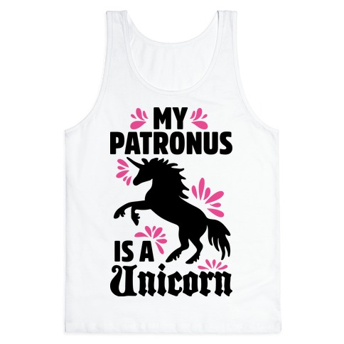 My Patronus Is A Unicorn Tank Top