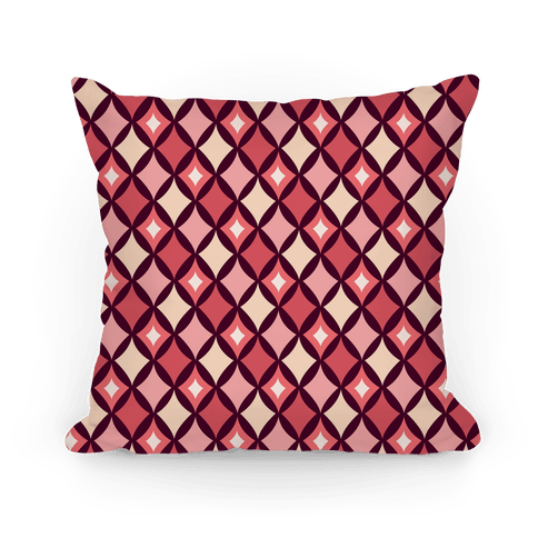 Diamond Pattern Pillow (Red) Pillow
