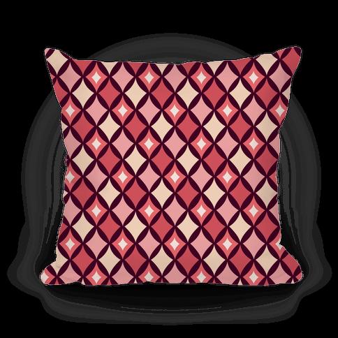 Diamond Pattern Pillow (Red) Pillow