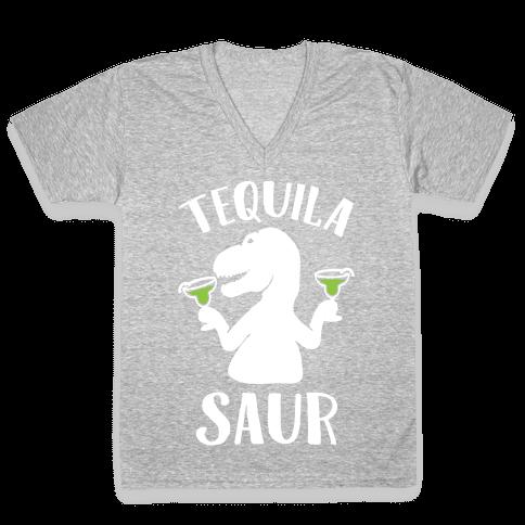 Tequilasaur V-Neck Tee Shirt