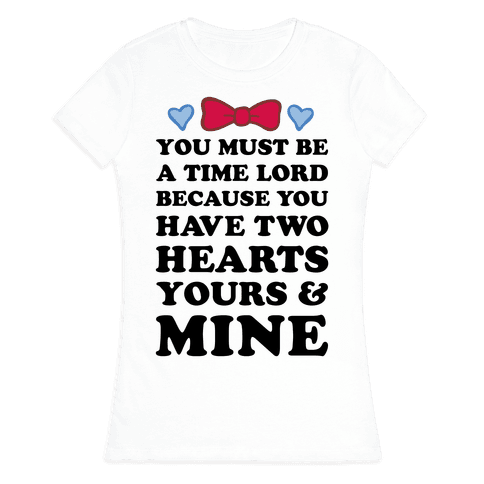 Time Lord Love Womens T-Shirt