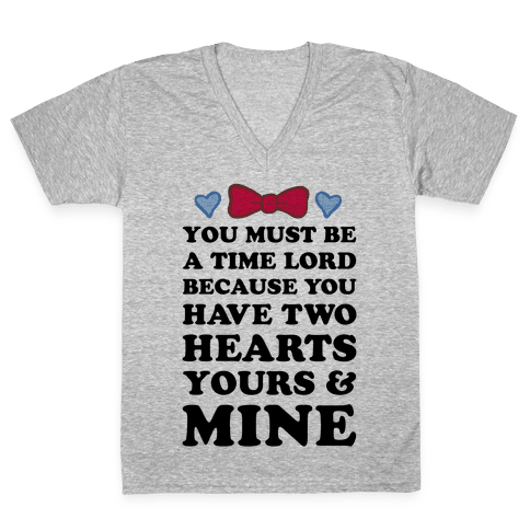 Time Lord Love V-Neck Tee Shirt