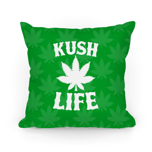Kush Life (Green) Pillow
