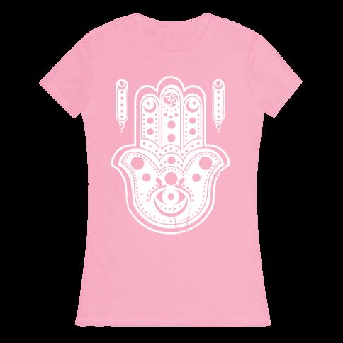 Namaste Hamsa Hand Womens T-Shirt