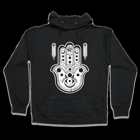 Namaste Hamsa Hand Hooded Sweatshirt