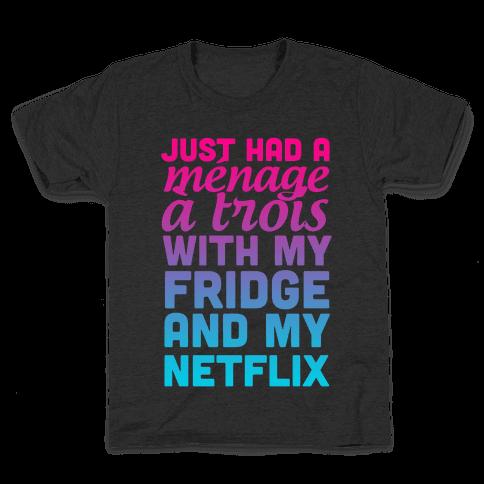 Menage a Trois. Kids T-Shirt