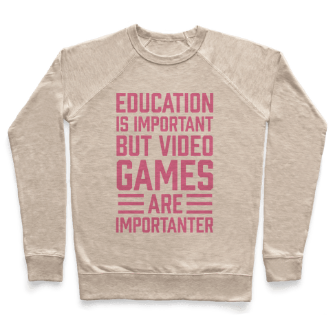 Education Is Important But Video Games Are Importanter Pullover
