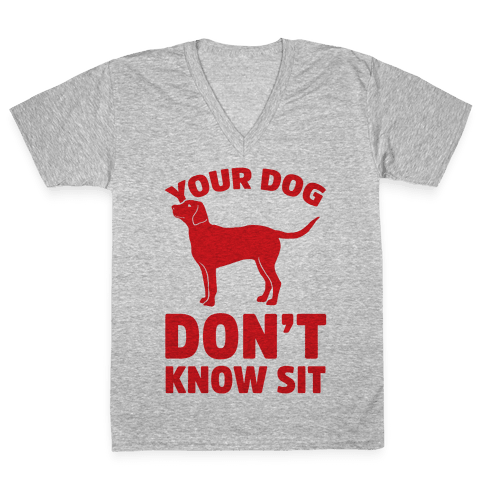 Your Dog Don't Know Sit V-Neck Tee Shirt