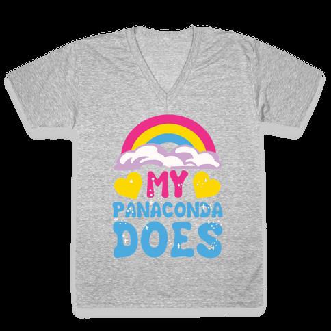 My Panaconda Does V-Neck Tee Shirt