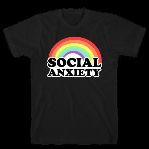 Social Anxiety Rainbow Mens T-Shirt