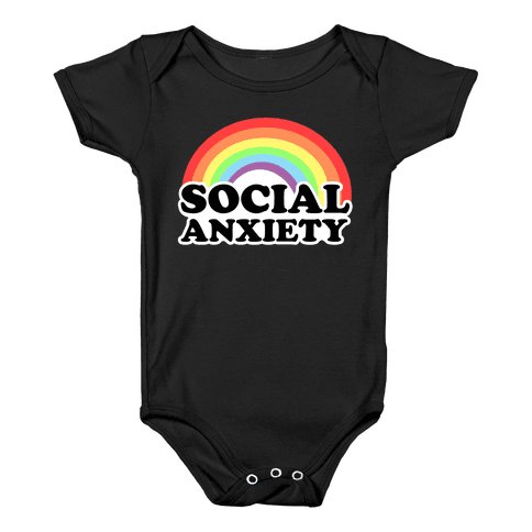 Social Anxiety Rainbow Baby Onesy