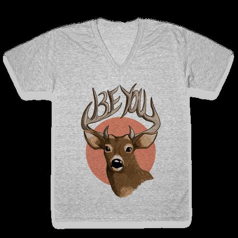 Deer- Be You V-Neck Tee Shirt