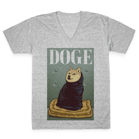 Fashion Doge (vogue parody) V-Neck Tee Shirt